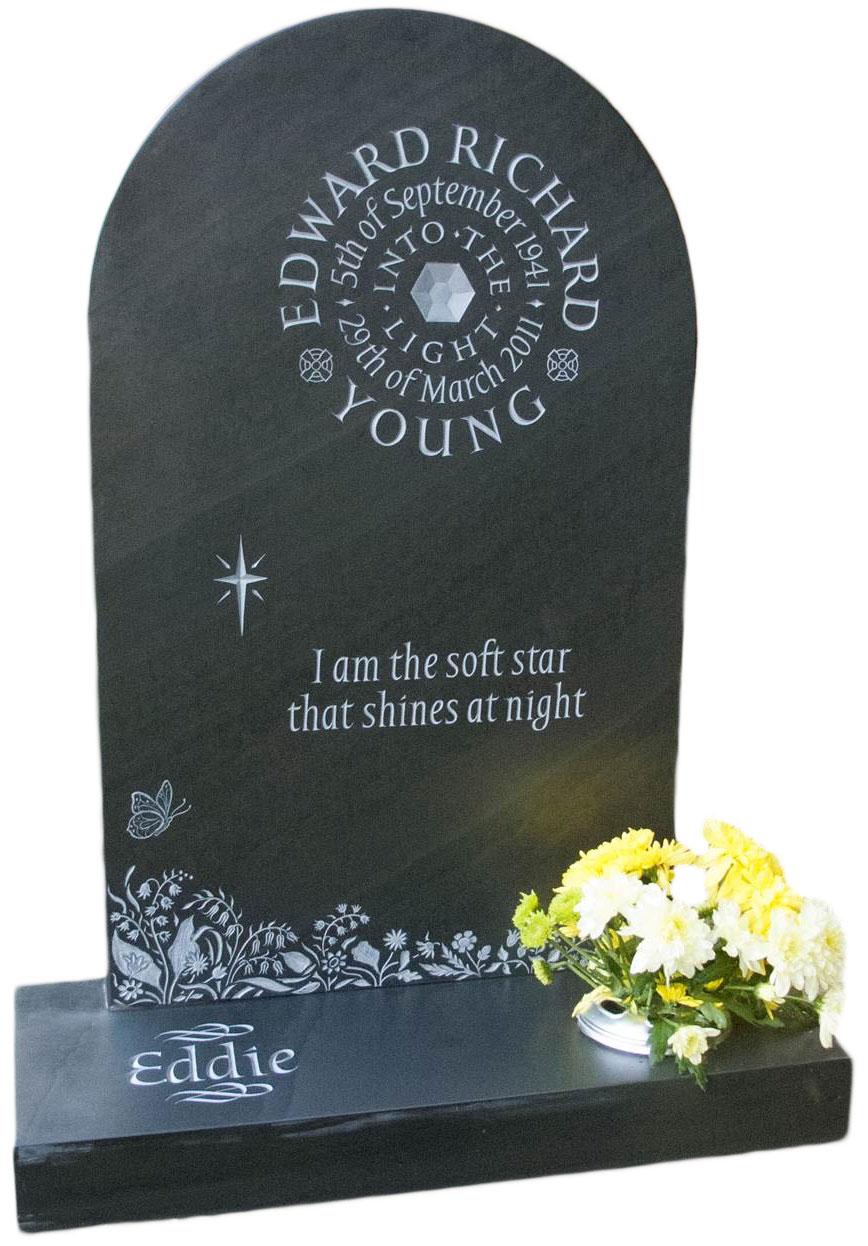 16122 Round top headstone